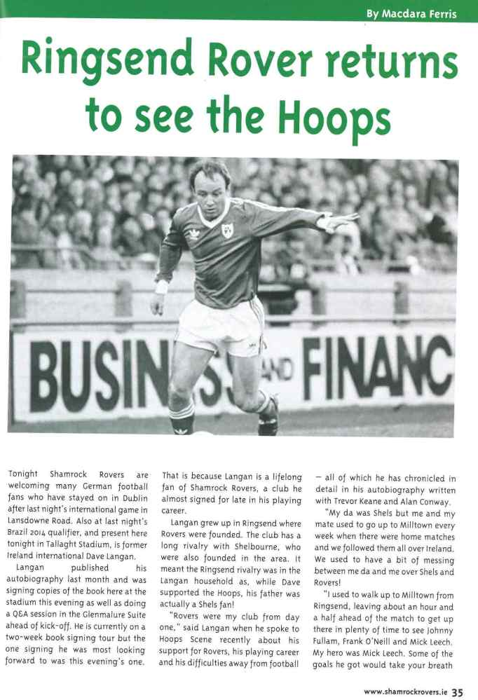 Ringsend Rover returns to see the Hoops (1/4)