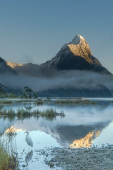 iconicnz0004,morning reflections mitre peak _