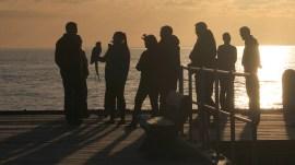 meeting at dusk