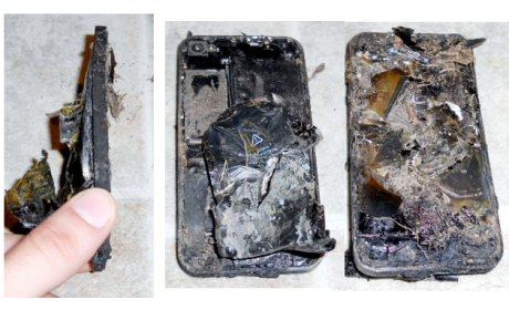 burned iPhone 4S