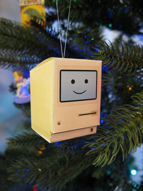 Paper Craft Happy Mac