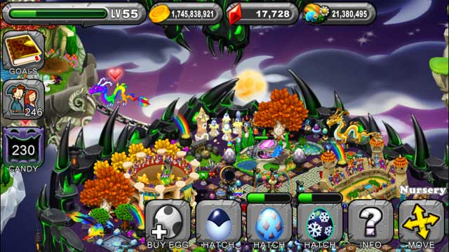 DragonVale Nosferatu Dragon Egg