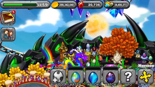 DragonVale Aurora Dragon Egg