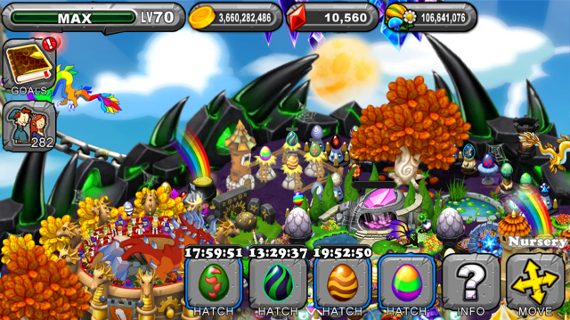 Dragonvale Bramble dragon Egg