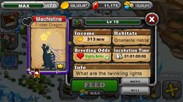 Dragonvale Flicker Dragon