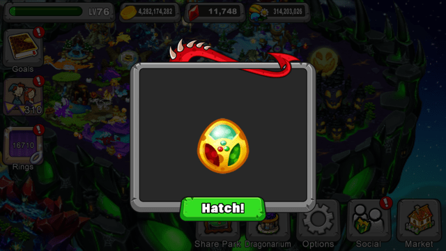 DragonVale Trimera Dragon Egg