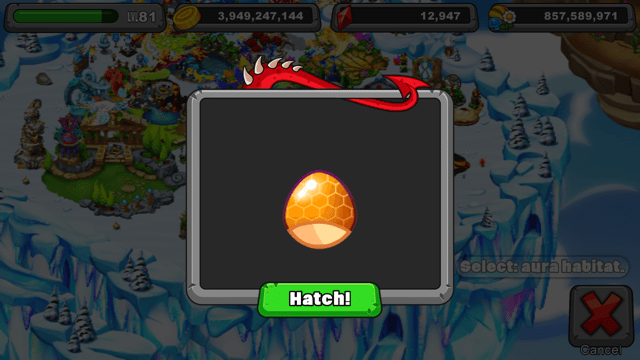 Dragonvale Honeyglow Dragon Egg
