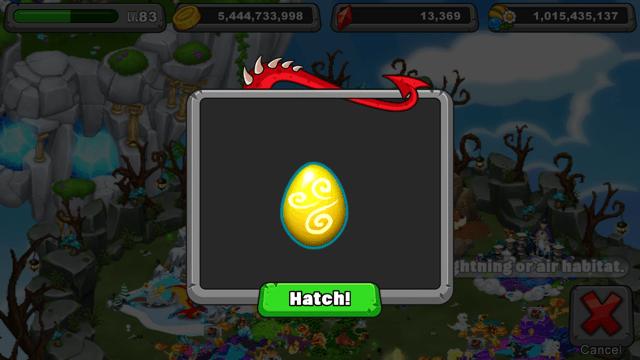 Dragonvale Cyclone Dragon Egg