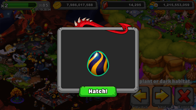 Dragonvale Snapper Dragon Egg