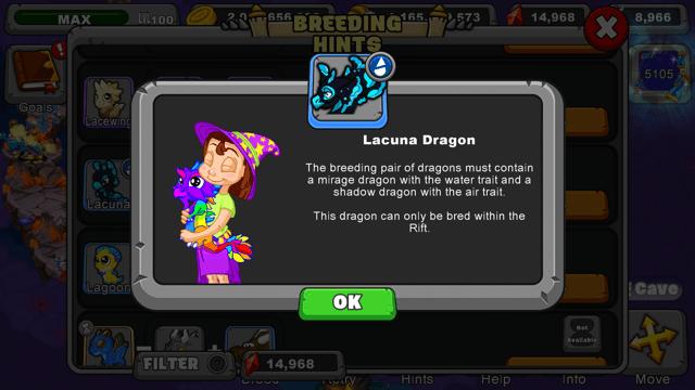 Dragonvale Lacuna Dragon