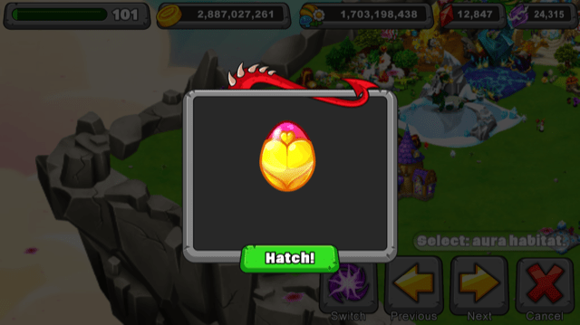 Dragonvale Sweetheart Dragon Egg
