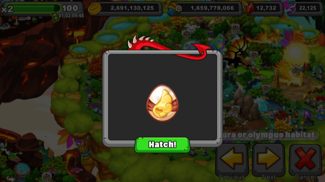 Dragonvale Spritely Dragon Egg