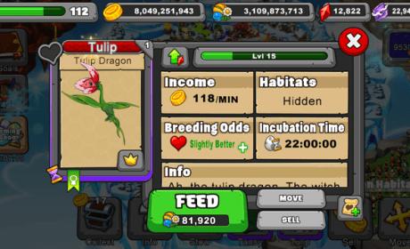 Dragonvale Tulip Dragon