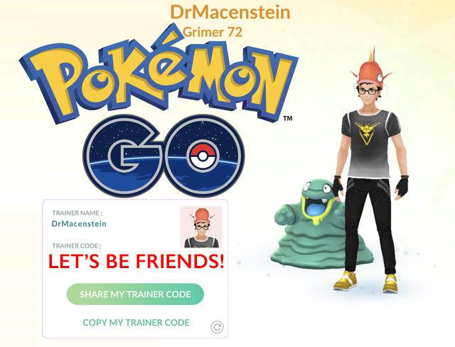 Let's be PokemonGo Friends!