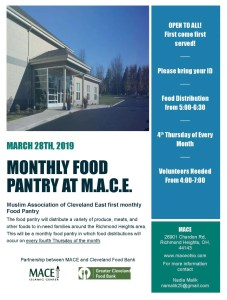 Food Pantry @ MACE Islamic Center