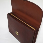 Russia Leather Briefcase - Open