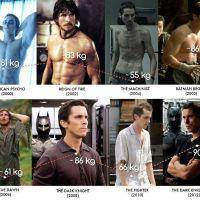 Los cambios físicos de Christian Bale en el cine