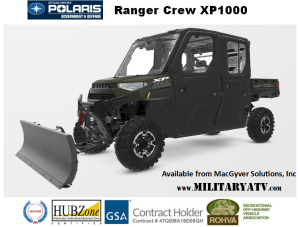 Polaris Ranger Crew XP 1000 for Government Customer from MacGyver Solutions