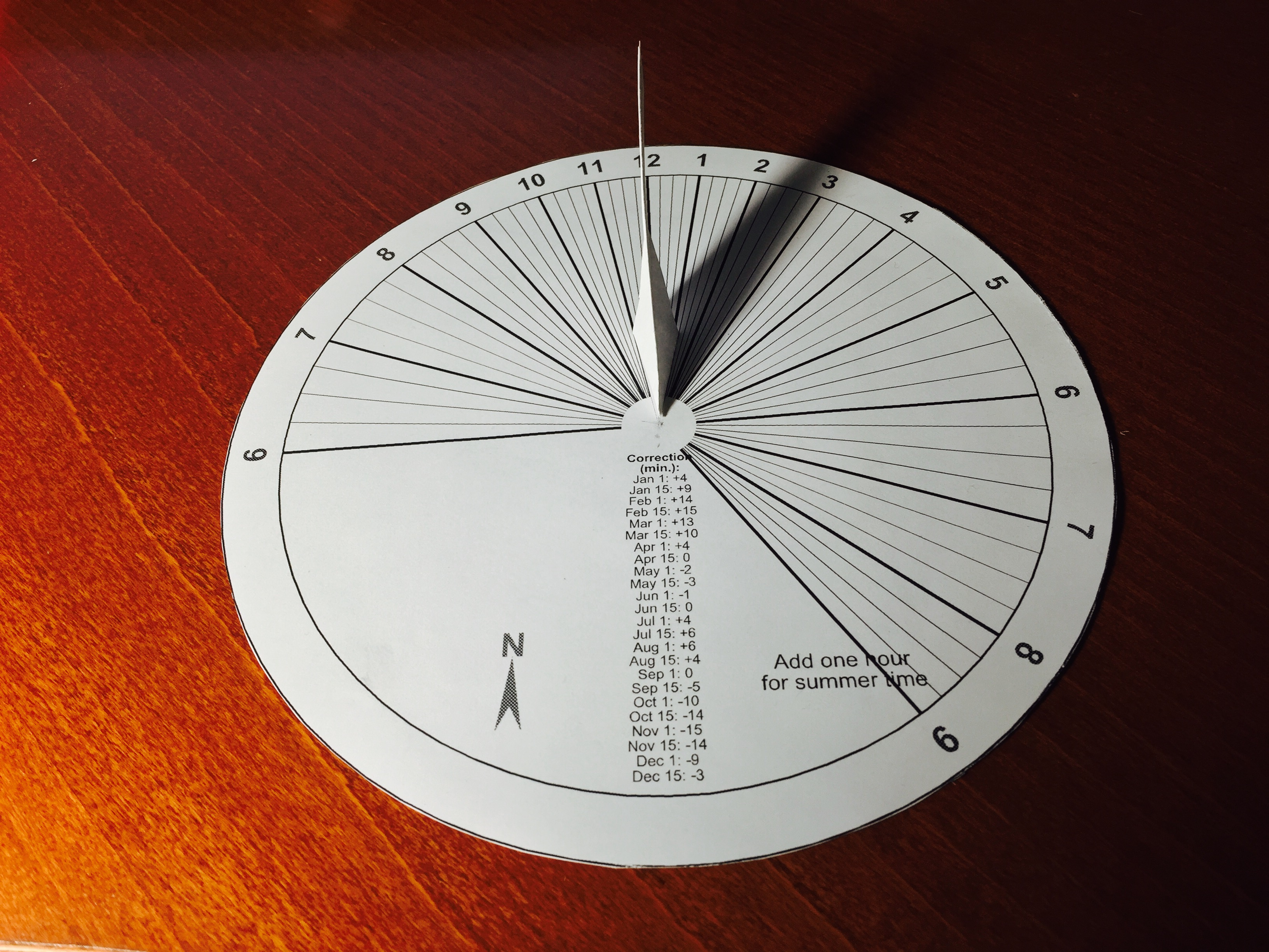 Making a Paper Sundial in 15 Minutes