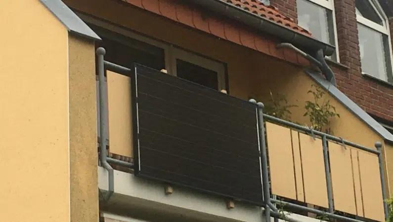 Balkonkraftwerk Balkonbrüstung