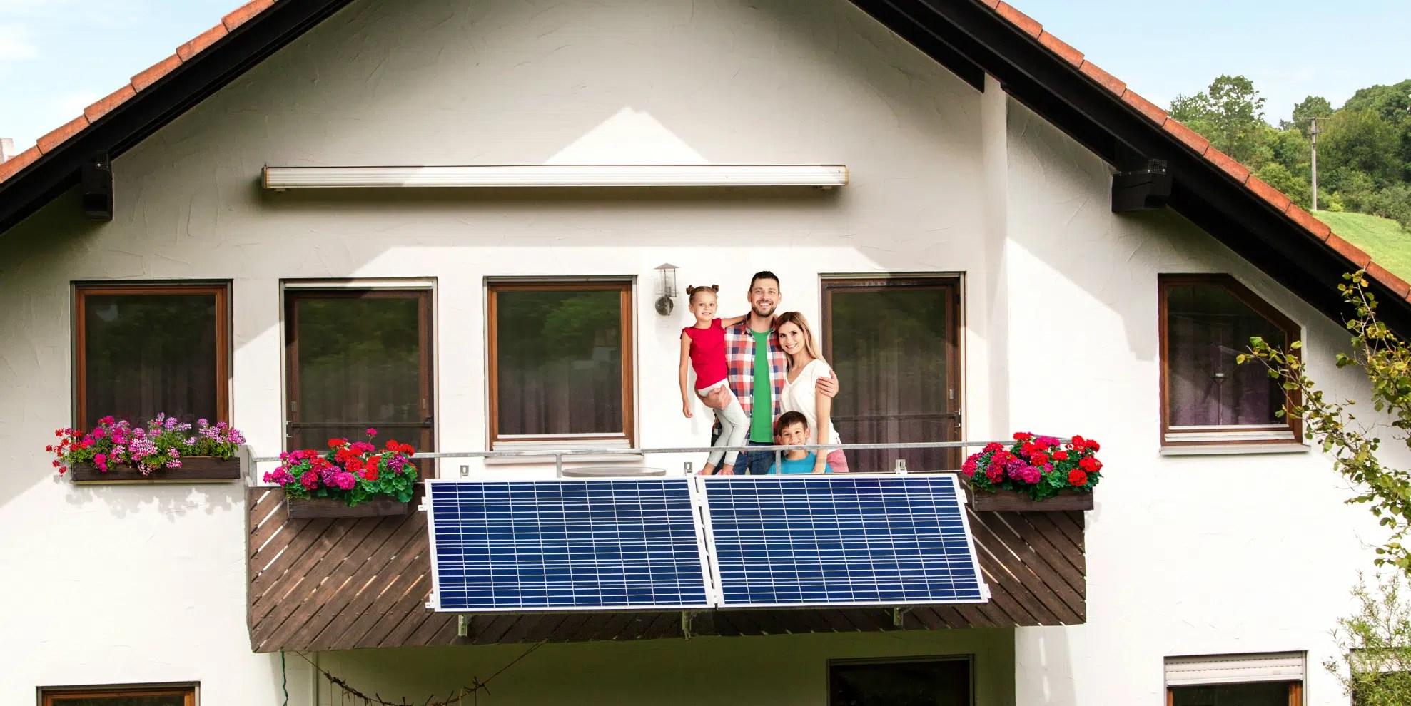 Balkonkraftwerk Familie