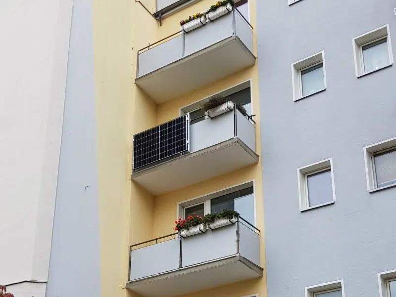 Balkonkraftwerk Mehrfamilienhaus
