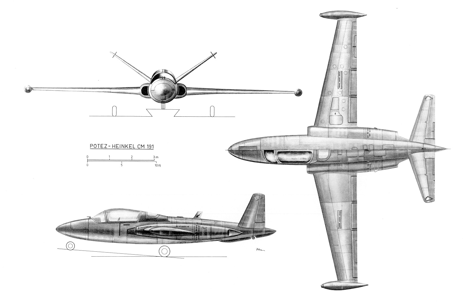 Fouga Four Place Cm 191