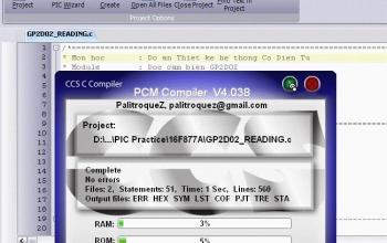 Tổng hợp code và hướng dẫn lập trình CCS cho PIC16F877A