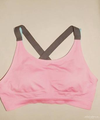 pink training bra