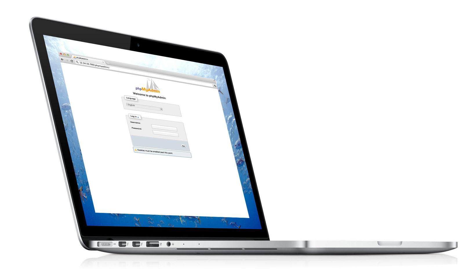 Apple MacBook Pro phpMyAdmin