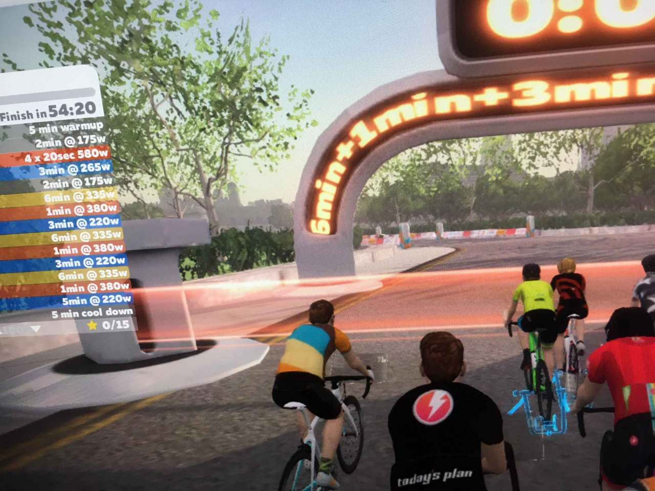 Zwift workout screenshot