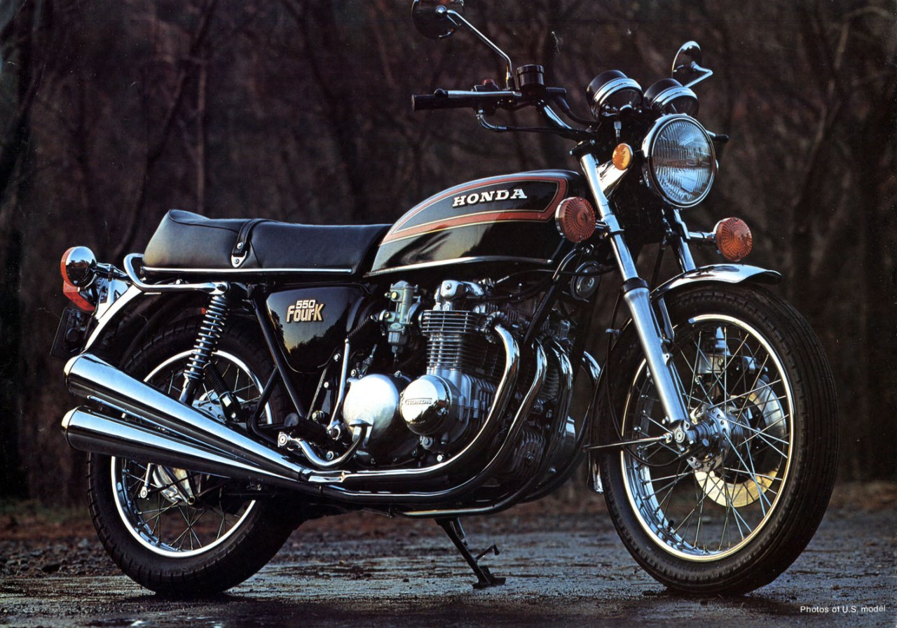 CB 550 side view