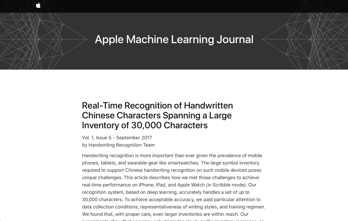 Apple ruft Machine-Learning-Blog ins Leben