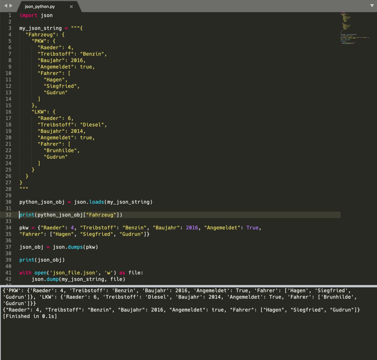 JSON-Daten in Python verarbeiten