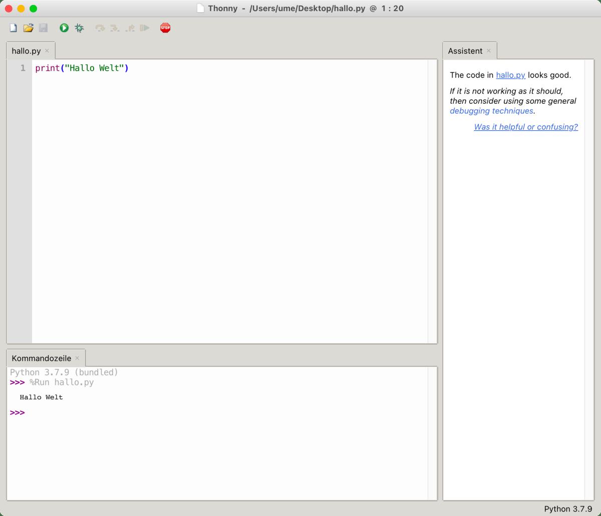Thonny: Ideale IDE für den Einstieg in die Python-Programmierung