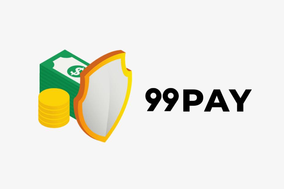 moeda e dinheiro ao lado escrito 99PAY