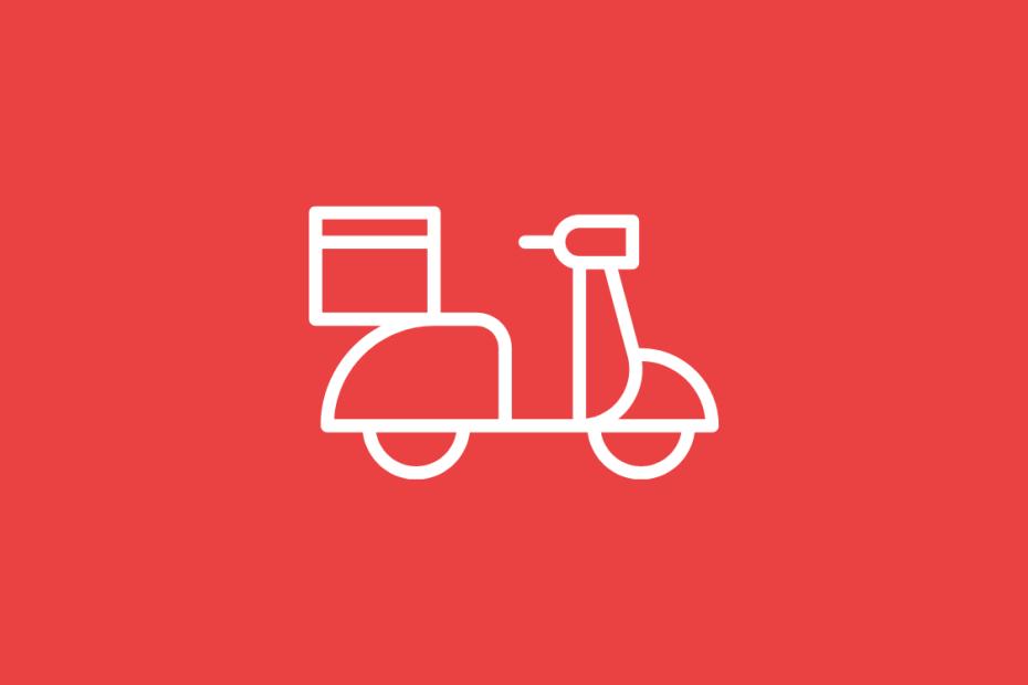 fundo vermelho com moto em branco