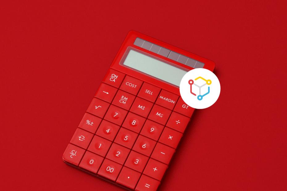 calculadora vermelha