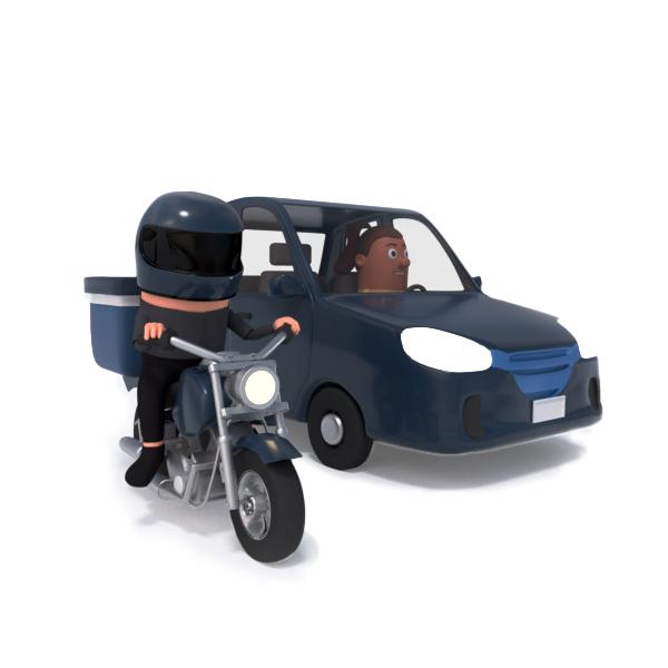 Motoboy e carro