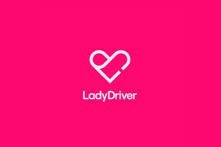 fundo rosa com coração e LadyDriver escrito em branco