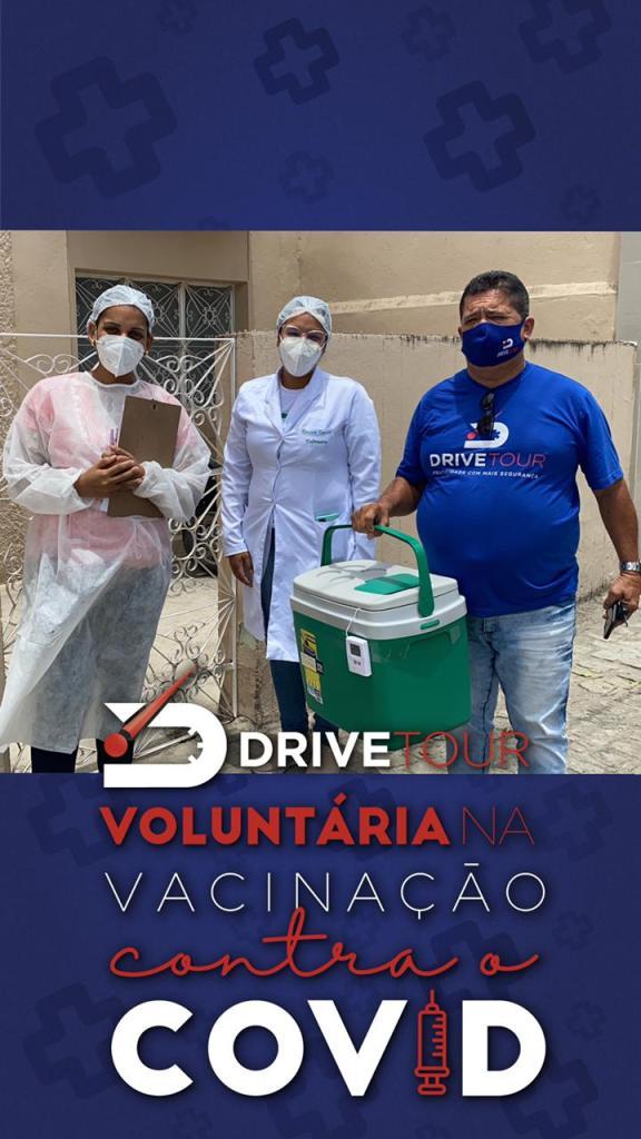 Drive tour voluntária na vacinação contra covid