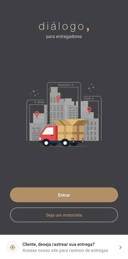 Captura de tela do aplicativo Diálogo