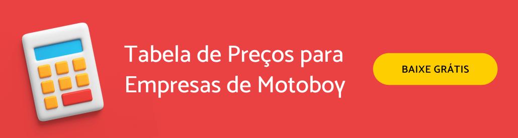 Tabela de preço para empresas de motoboy