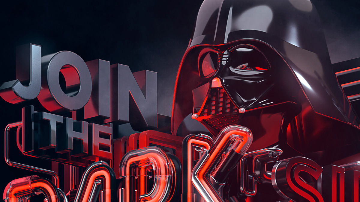 A fan art project for Star Wars Darth Vader - Join the Dark Side