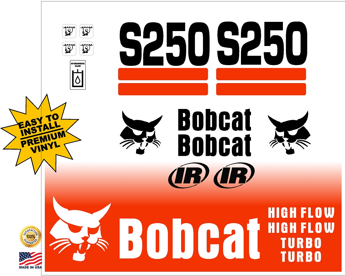 Bobcat S250 replacement decal kit - Machine Decals