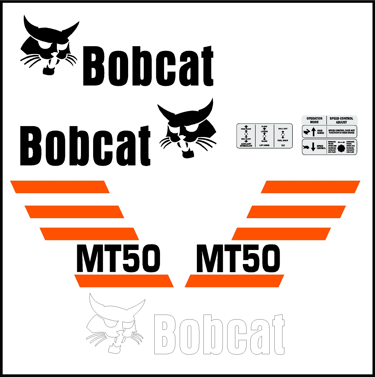 Decal Kits Product : Bobcat mt replacement decal kit sticker set