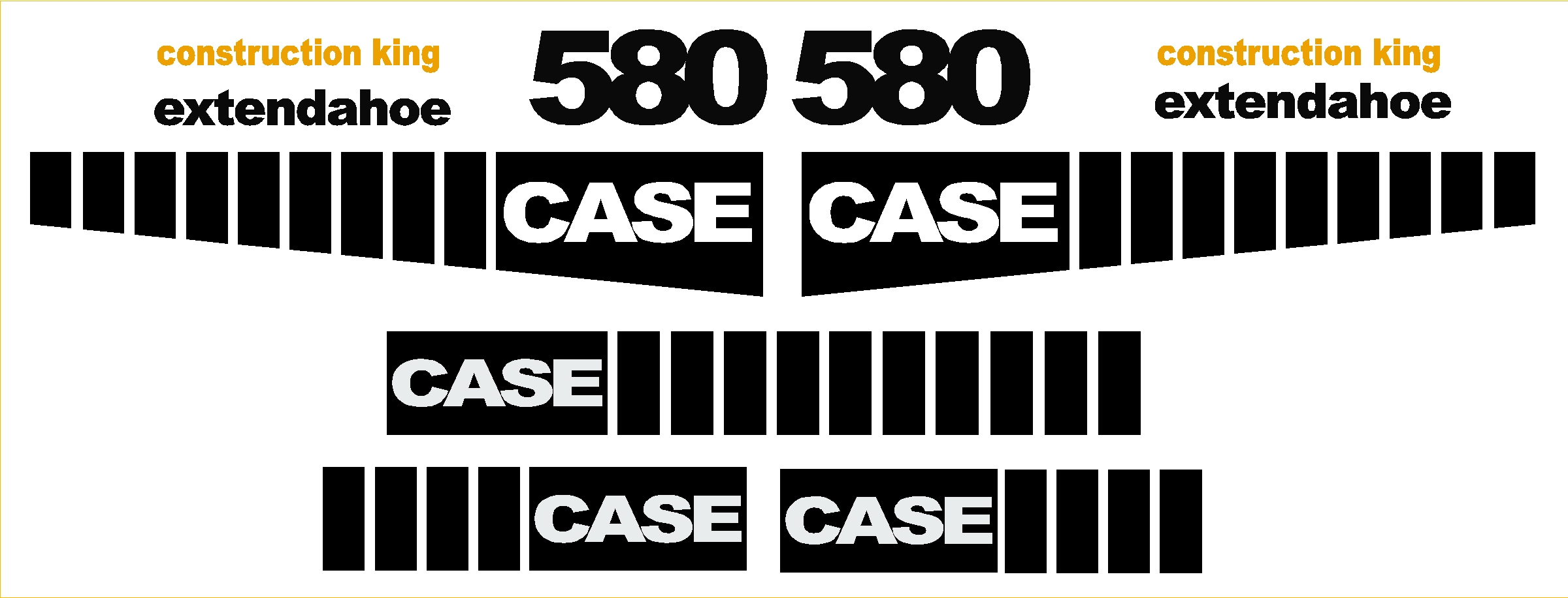 Decal Kits Product : Case new replacement decal kit machine decals
