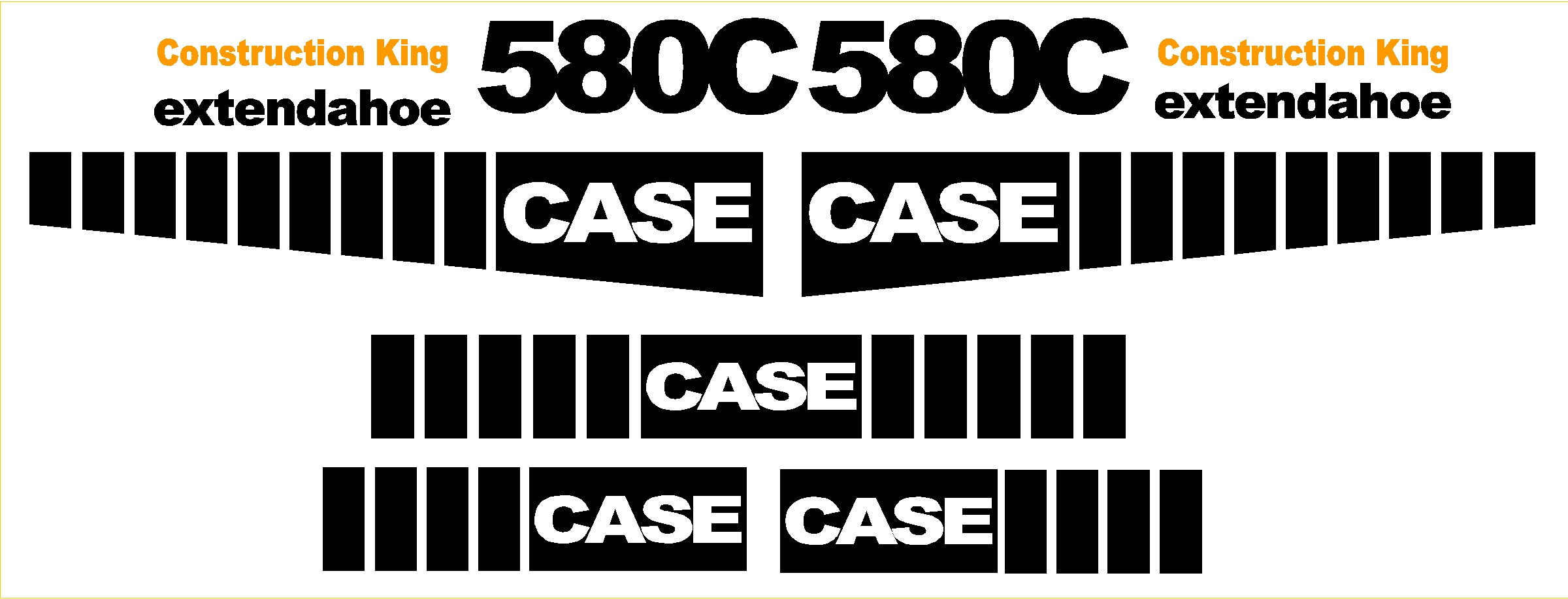 Case Tractor Stickers : Case c new replacement decal kit machine decals