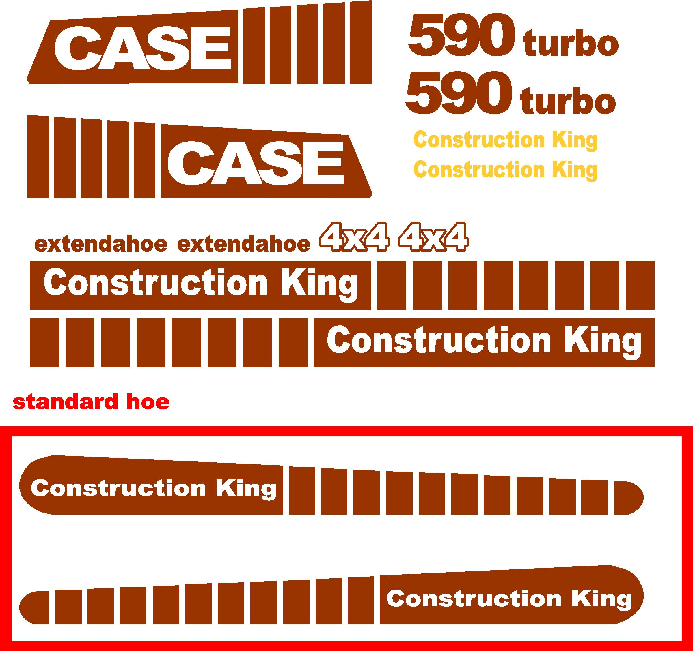Decal Kits Product : Case turbo extendahoe new replacement decal kit