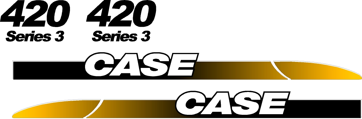 7250 Case Decal Kits : Case skidloader new style replacement decal sticker kit